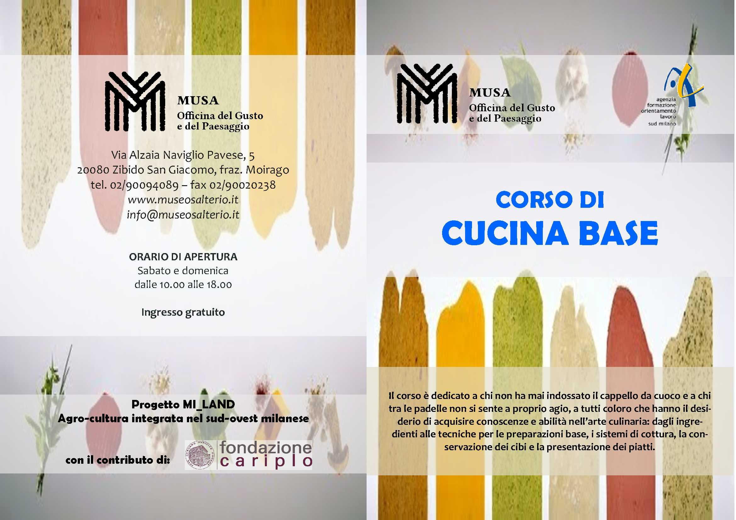 musa ? museo salterio » eventi ottobre 2015 - Corso Base Di Cucina