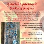 Gioielli e paesaggi: raku da'autore